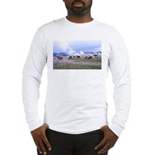 Elk/Old Faithful Long Sleeve T-Shirt