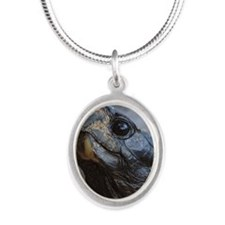 gopher tortoise Silver Oval Necklace