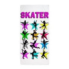 FIERCE ICE SKATER Beach Towel