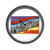Wilmington Delaware Greetings Wall Clock