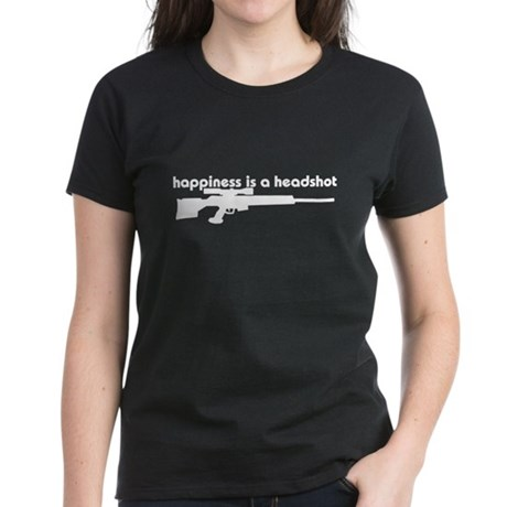 Happiness is a Headshot Women's Dark T-Shirt