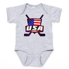 American Hockey Shield Logo Baby Bodysuit