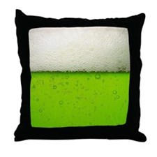 Green Beer Picture Throw Pillow