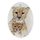 Cheetah Oval Ornament