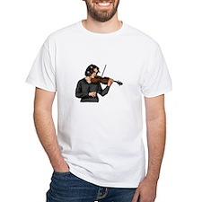 Violin female player grey shirt T-Shirt