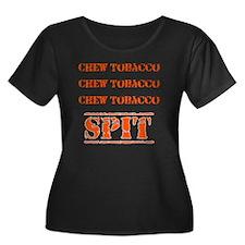 Chew Tob Women's Plus Size Dark Scoop Neck T-Shirt
