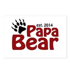 Papa Bear New Dad 2014 Postcards (Package of 8)