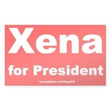 """Xena For President"" Rectangle Decal"