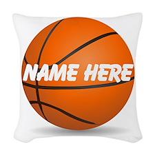 Customizable Basketball Ball Woven Throw Pillow