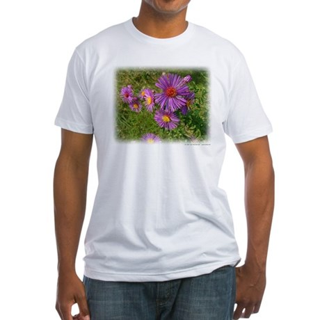 New England Aster Fitted T-Shirt