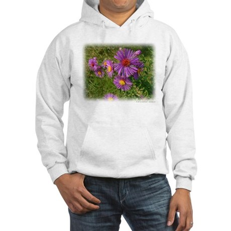 New England Aster Hooded Sweatshirt