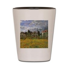 Houses at Argenteuil by Claude Monet Shot Glass
