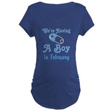 Personalized Having A Baby Boy Maternity T-Shirt