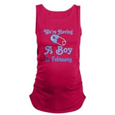 Personalized Having A Baby Boy Maternity Tank Top