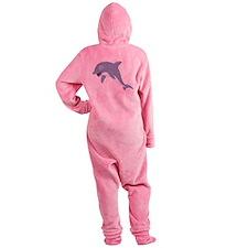 Cartoon Dolphin Footed Pajamas