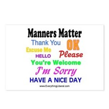 Manners Matter Postcards (Package of 8)