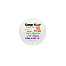 Manners Matter Mini Button (10 pack)