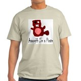 Pirate Beaver Ash Grey T-Shirt
