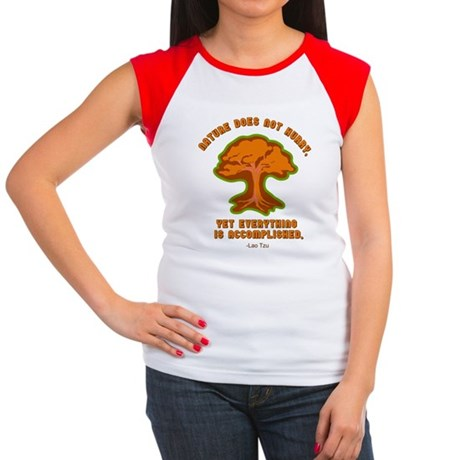 Nature Does Not Hurry... Women's Cap Sleeve T-Shir