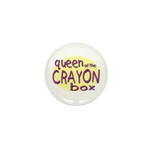 Queen of the Crayon Box Mini Button (100 pack)