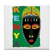 Kenya Mask Tile Coaster