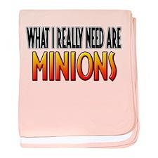 I Need Minions baby blanket