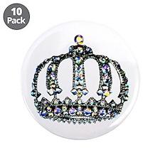 """Royal Tiara"" 3.5"" Button (10 pack)"