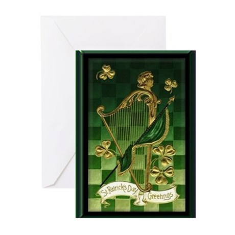 St. Patrick's Day Harp Cards (10 pack)