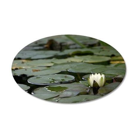 Lily Pad blossom 35x21 Oval Wall Decal