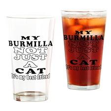 Burmilla Cat Designs Drinking Glass