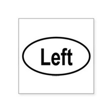 LEFT Oval Sticker