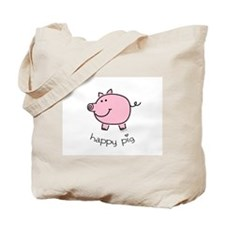 Happy Pig Tote Bag