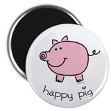 "Happy Pig 2.25"" Magnet (10 pack)"