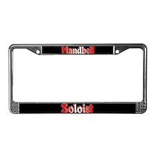 Handbell Soloist Black License Plate Frame