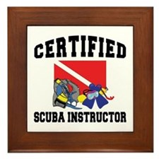 Certified SCUBA Instructor Framed Tile