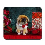 Pekingese Christmas Pumpkin Mousepad