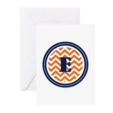 Orange & Navy Greeting Cards (Pk of 10)