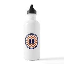 Orange & Navy Water Bottle