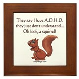 ADHD Squirrel Framed Tile