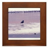 One Legged Seagull Framed Tile
