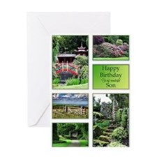 For son, a birthday card with garden views Greetin