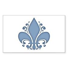 Fleur II -blue Rectangle Decal