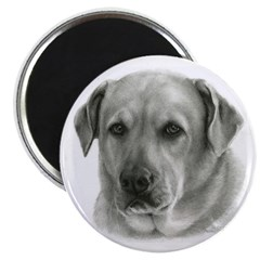 "Lindsay - Yellow Lab Mix 2.25"" Magnet (10 pack)"