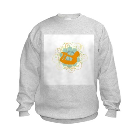 Get it om. Yoga Bow Pose Kids Sweatshirt
