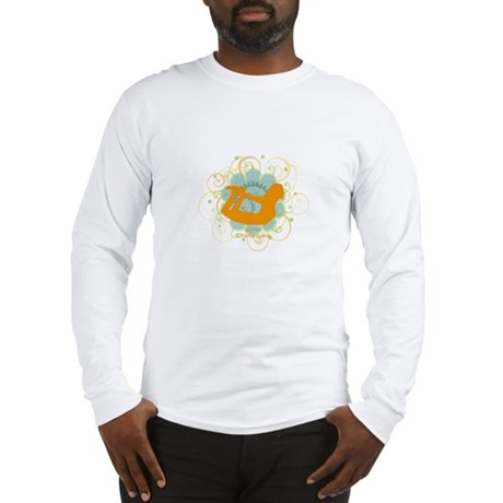 Get it om. Yoga Bow Pose Long Sleeve T-Shirt