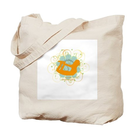 Get it om. Yoga Bow Pose Tote Bag