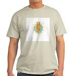 Get it om. Eagle Pose Yoga Ash Grey T-Shirt