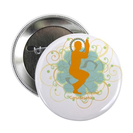 "Get it om. Eagle Pose Yoga 2.25"" Button (10 pack)"