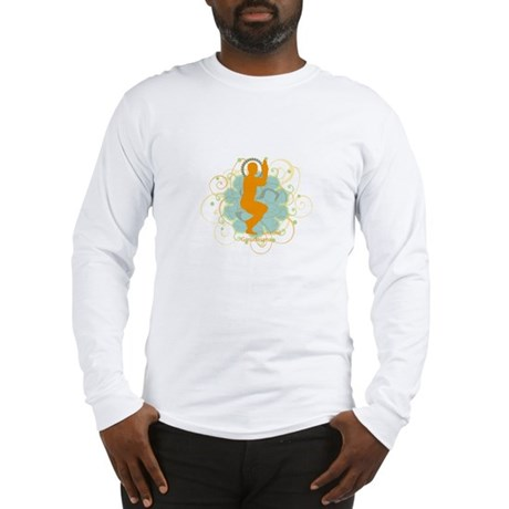 Get it om. Eagle Pose Yoga Long Sleeve T-Shirt