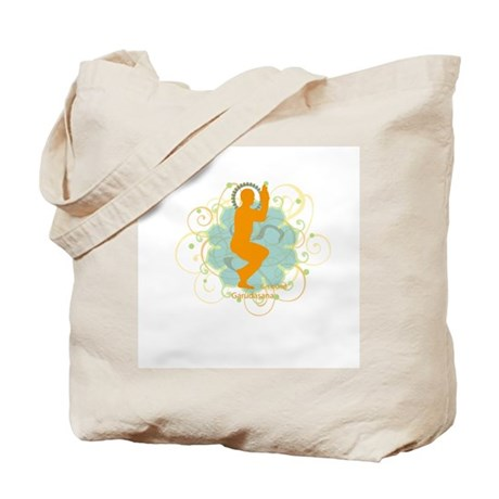 Get it om. Eagle Pose Yoga Tote Bag